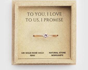 9c5d205f20 promise ring, promise ring for her, rings for women, girlfriend gift, rose gold  promise ring, romantic gifts
