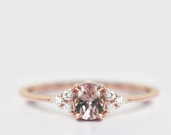 Red Garnet Ring, Oval Cut Engagement Ring For Women, January Birthstone, 14k Gold, 18k Gold