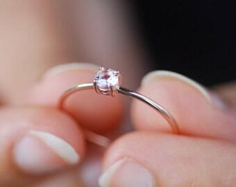 Morganite Ring, Promise Ring For Her, Rose Gold Ring, Dainty Ring, Gold Ring