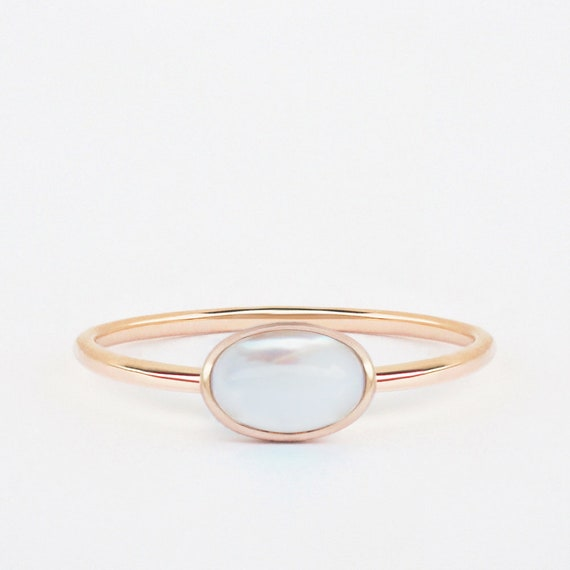 Perle Ring Rose Gold Perle Ring Rose Gold Ring Etsy