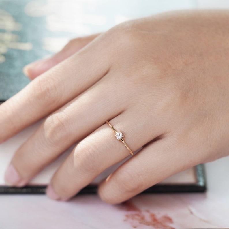 promise ring for her morganite ring valentine gift rings image 0