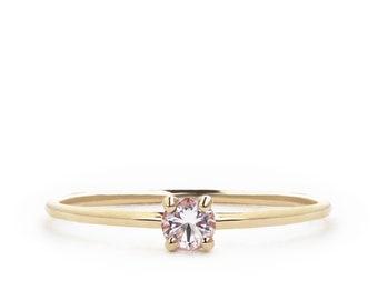 Morganite Ring, Promise Ring For Her, Valentines Gift, Rings For Women, Girlfriend Gift, Rose Gold Promise ring, Romantic Gifts