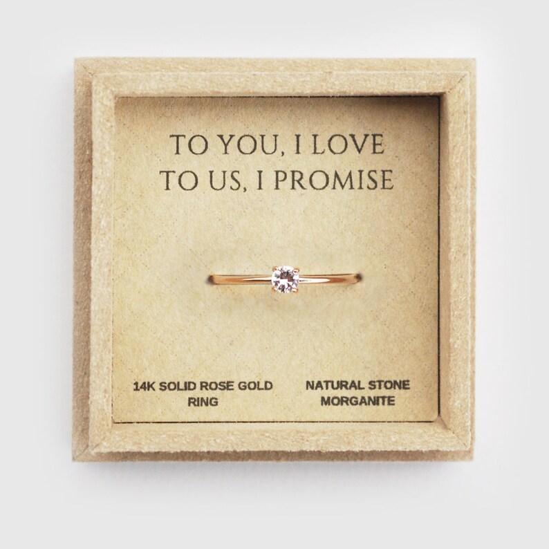 promise ring for her morganite ring rings for women image 0