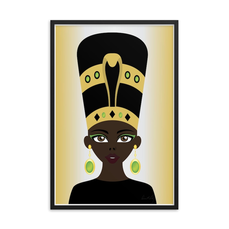 Black Gold Green African Art Kemetic Jeweled Queen Unframed Posters, Black  Pride, African Pride, Ethnic Art, Afrocentric Art, Wall Decor