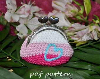 Simple crochet purse - pdf pattern