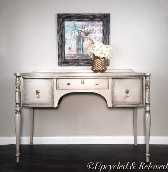 Vintage vanity/desk, bedroom furniture, office desk, vintage style,  refinished furniture, painted desk