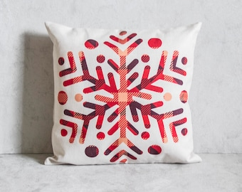Christmas Pillow Cover, Snow Flake Pillow Cover, Pillow Covers, Throw Pillow, Christmas Throw Pillow, Decorative Pillow Cover