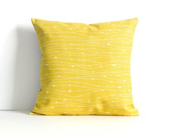 Yellow Pillow Cover, Yellow Throw Pillow, Decorative Pillow Cover, Cushion Cover