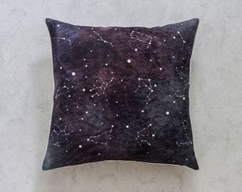 Galaxy Stars Pillow Cover, Pillow Covers, Throw Pillow, Cushion Cover, Decorative Pillow Cover, Cushion Cover, Gift, Christmas Gift