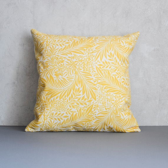 Yellow Pillow Cover Yellow Floral