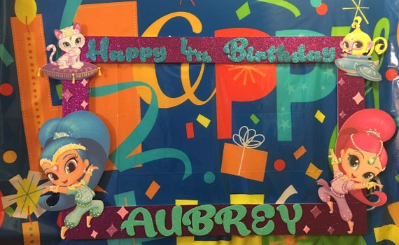 Shimmer And Shine Birthday Party Photo Booth Frame Etsy