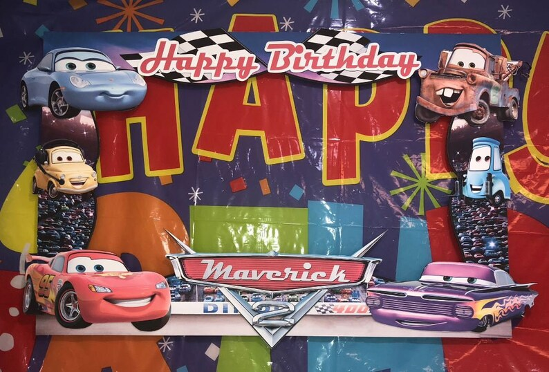 Disney Cars Birthday Party Photo Booth Frame Etsy