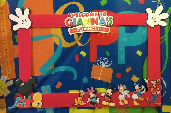 Mickey Mouse Clubhouse Party Photo Booth Frame Etsy