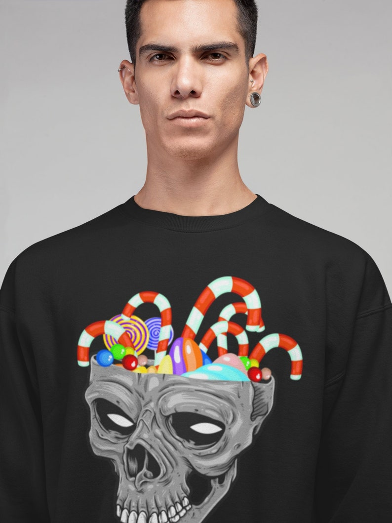 f2857669366 Alternative Christmas Jumper Candy Cane Skull Mexican Xmas