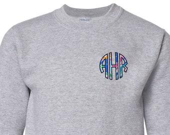 Applique Name Sweatshirt Custom Toddler Applique Sweatshirt Personalized Embroidered Sweatshirt