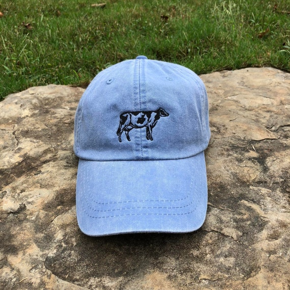 Monogrammed hat Logo Hats Cow hat Cow Leather Strap  3e4af33aa3e