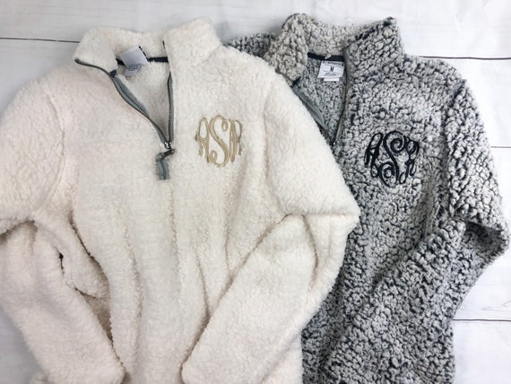 Monogrammed Womens Sherpa Pullover