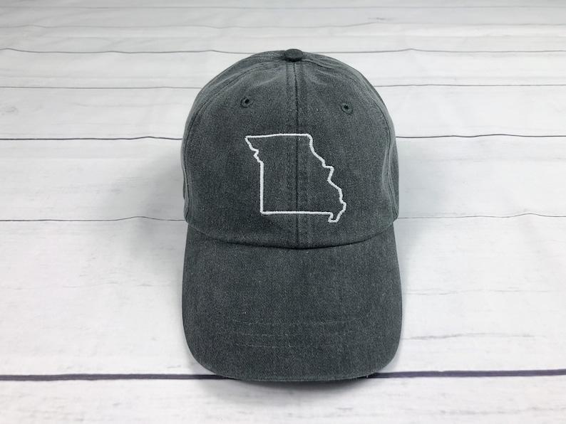 Monogrammed Hat Missouri State Hat Missouri Monogrammed baseball cap Monogrammed hat