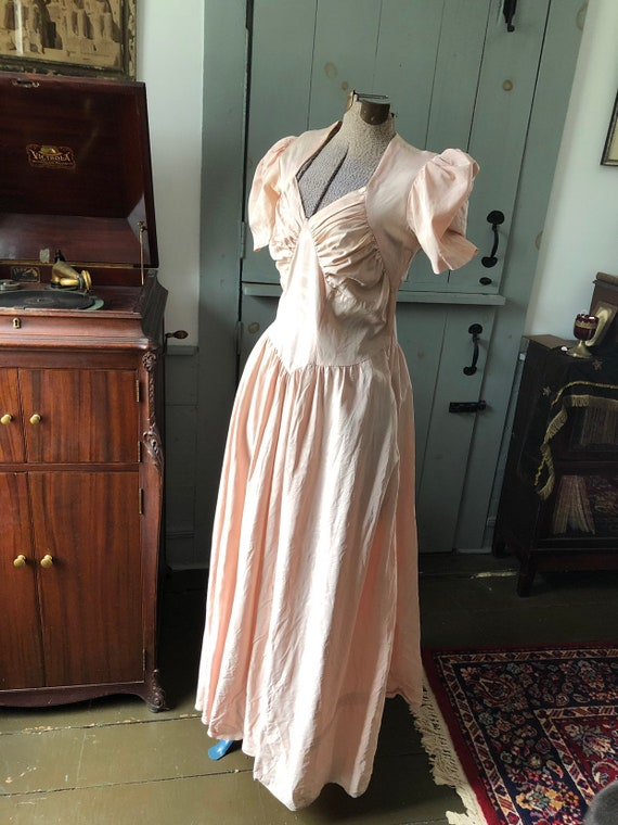 Vintage 1940's pink evening gown