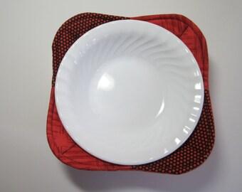 Microwave Bowl Cozy - Set of 2 Microwave Bowl Cozies - Bowl Cozy