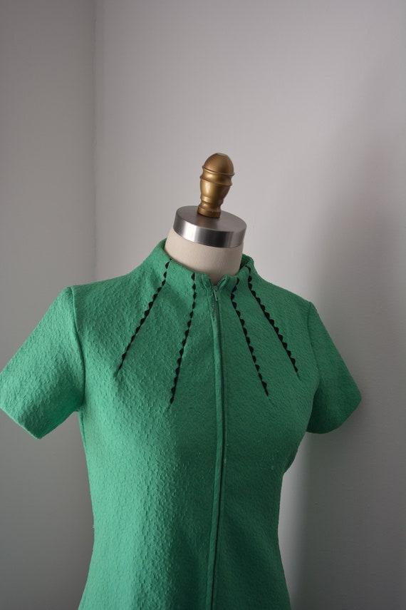 1960s Mint Green Mod Dress