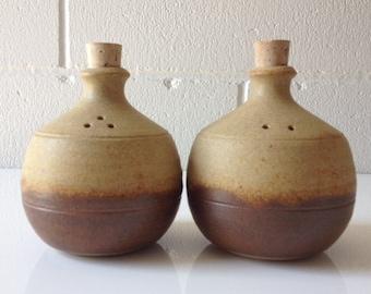 Rudolf Dybka Salt & Pepper Australian Studio Pottery Javeen-Bah Pottery for Naural Decor
