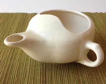 Diana Ware Invalid Feeder Pap Cup Infant Feeder Vintage 1950's Australian Ceramic