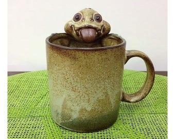Gempo Pottery Dragon Lizard Gecko Mug Vintage 1970's Novelty Stoneware Mug Japan UCTCI Mug for Gempo Australia
