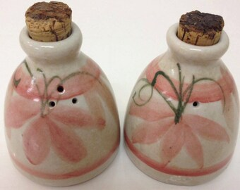 David & May Southgate Hungry Head Studio Salt and Pepper Shakers Australian Pottery