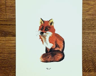 Fox - Wildlife portrait - A5 Fine Art Print - Limited Edition of 25