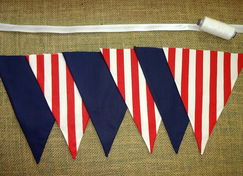 Deep Red And Black Stripy Personalised Engagement Party Bunting Banner Garland
