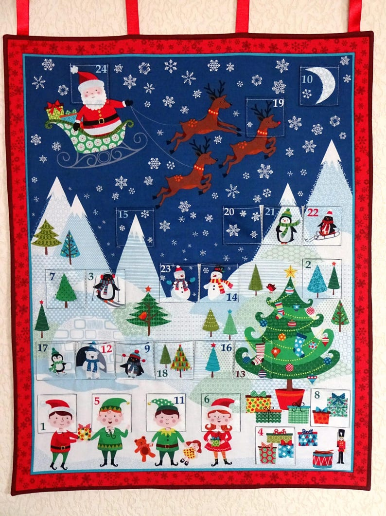 Toys R Us Weihnachtskalender.Advent Calendar Fabric Advent Calender Advent For Kids Quilted Christmas Gift Christmas Decor Home Decor Weihnachten Decor Noël