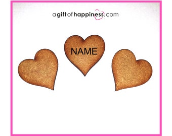 Family Tree Hearts - Extra Hearts for later additions to family tree frames - blank or with name/s handwritten on