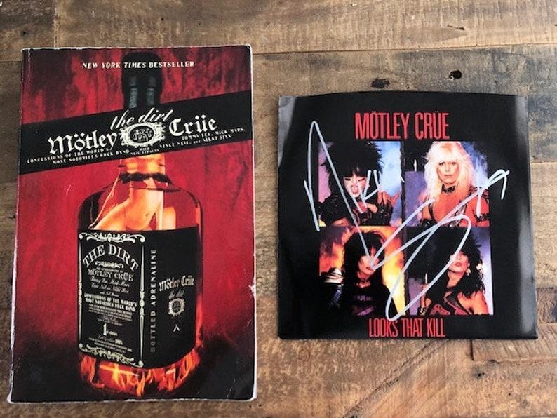 Motley Crue - Signed LP!!! - Rare 1981 Pin - The Dirt