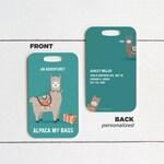 Personalized Metal Alpaca Luggage Tag