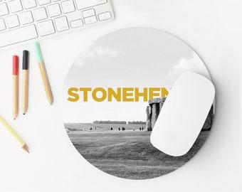 Stonehenge England Mouse Pad - Wanderlust - Mousepad - Desk Accessories - England Mouse Pad - Cute Mouse Pad - Mouse Mat - Office Decor