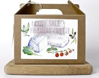 Primo Sale and Farmers' Cheese DIY kit - multiple batches, organic, handmade, gift box, italian food, cheese making, do it yourself, green