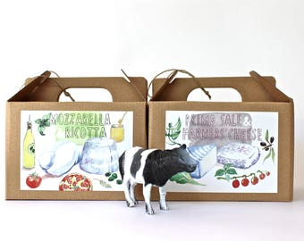 SPECIAL OFFER price - 2 DIY cheese making kit - multiple batches, organic, handmade, gift box, italian food, do it yourself