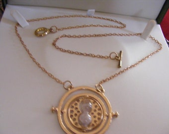 "Harry Potter Pendant & Chain  ""Sands of Time""  Egg Timer Necklace"