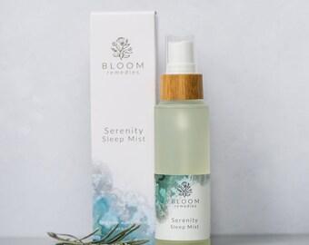 Serenity Sleep Mist Natural Sleep Remedy. Organic, Vegan, Using Essential Oils, Aromatherapy. Gift for Insomniacs. Sleep Therapy. Vegan.