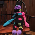 Stuffed Sock NeNe Critter; Quirky Handmade Sock Animal made from recycled materials;  OOAK (Wild Thing)