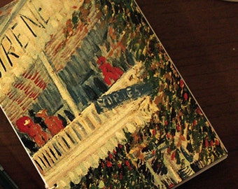 """VanGogh """"Restaurant de la Sirène ad Asnières"""" Copybook Coptic Binding"""