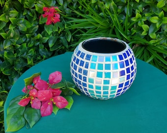 Candle holder. Artisan mosaic candle holder