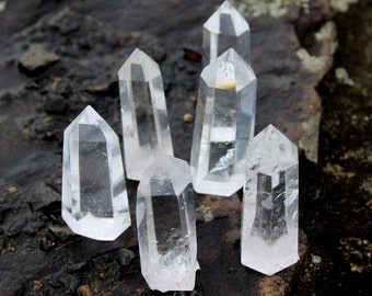 FREE SHIPPING Clear quartz crystal point