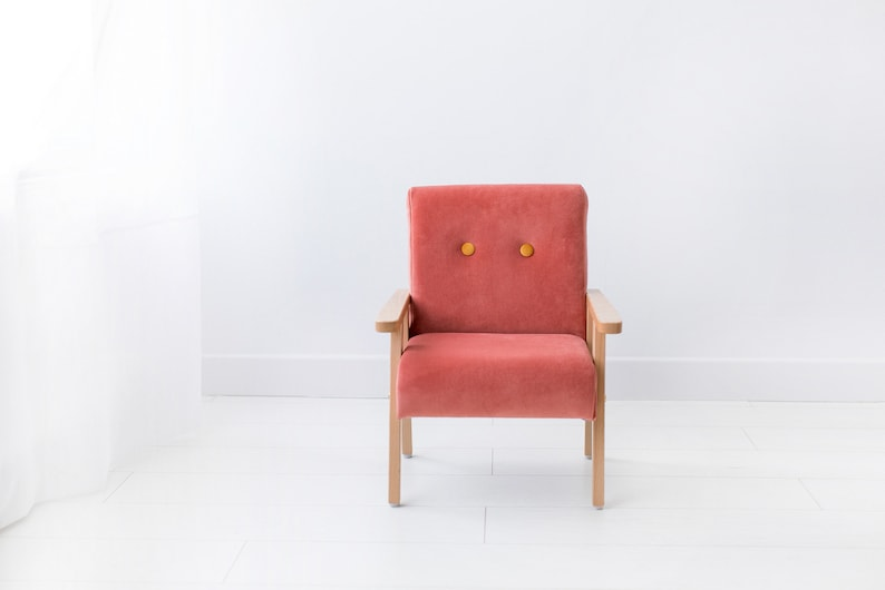 Super Simple Wooden Armchair For Childrens Room Burnt Coral Velvet Furniture For Kids Minimalist Rooms For Kids Gmtry Best Dining Table And Chair Ideas Images Gmtryco