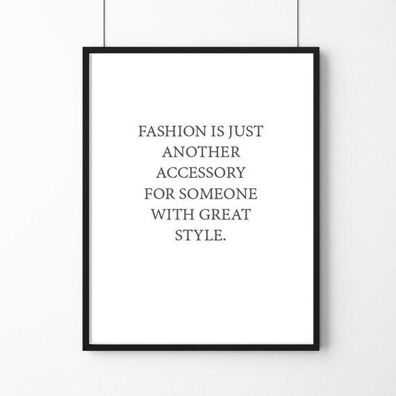 Affiche Poster Citation Coco Chanel Fashion Decorataion Féminine Pour La Maison