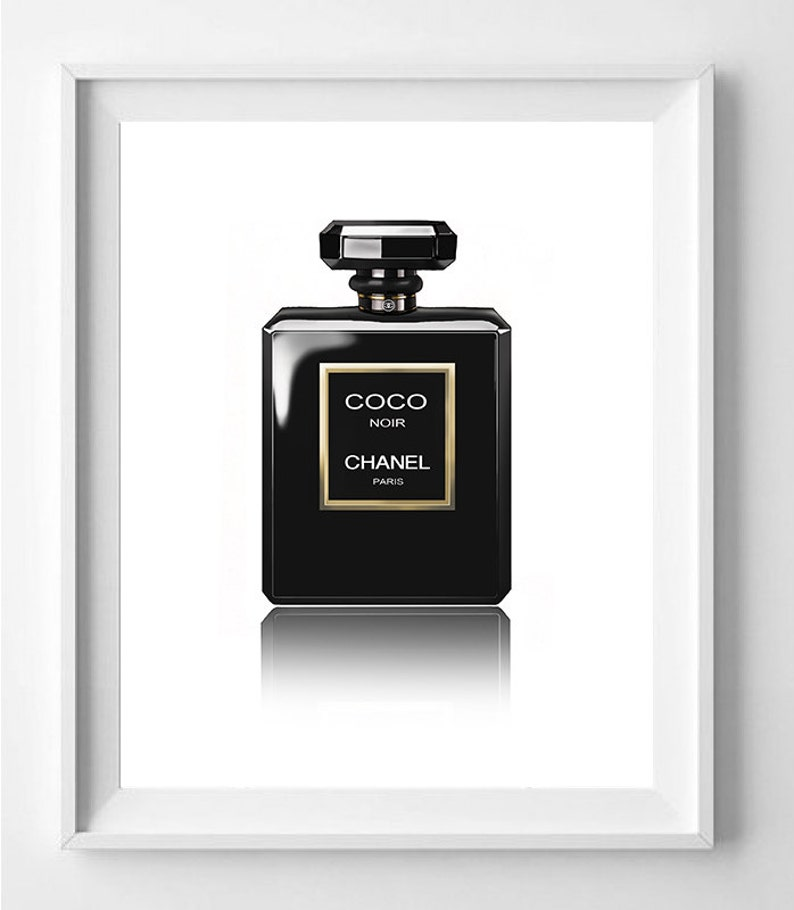 Affiche Poster Parfum Chanel Numero 5 Noir Decoration Etsy