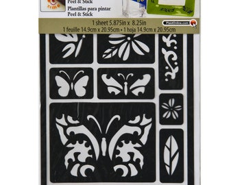 MOD PODGE ROCKS PEEL AND STICK STENCILS 25090 CHEVRON PATTERN