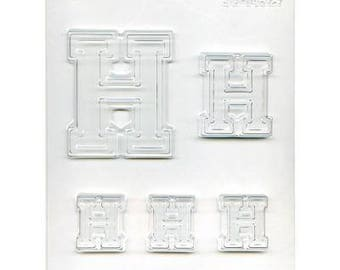 "Collegiate Letter ""H"" Chocolate Candy Mold"