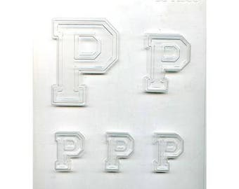 """Collegiate Letter """"P"""" Chocolate Candy Mold"""